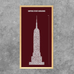 Architekturtypografik Empire State Building New York